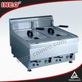 Counter top style friteuse à gaz industrielles/commercial utilisé friteuse gaz/friteuse pour mcdonald