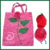 rose folding bag,flower shape folding bag