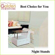 Modern Mirror Night Tables Glass Nightstands