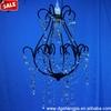 Black Chandelier Frame,Metal Chandelier Light for Decoration