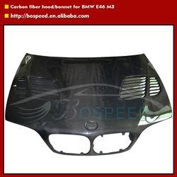 E46 Hood Carbon Fiber Bonnet with Vents for BMW M3 / 3 Series 4 Doors Cars