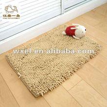 Anti-slip microfiber chenille carpet