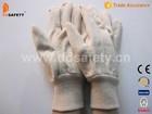White cotton canvas glove knit wrist DCD100