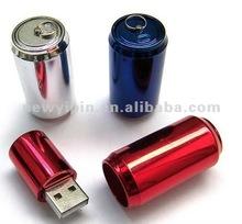 Mini metal/ABS tin can USB flash drive with 8GB