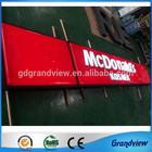outdoor shop hotel supermarket fascia led light sign board manufacturer