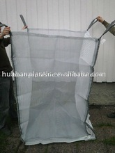 Vented firewood big bag with mosquito mesh and ventilated stripes