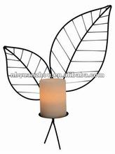 vintage Metal candle holders craft leaf series