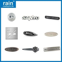 high quality wire drawing aluminum logo