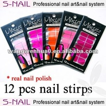 best selling solid color real nail polish strips for nail beauty with OEM services (SNPM009))