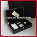 superior da classe de luxo preto piano acabamento de laca de madeira iphone 6 caixa com accessoris