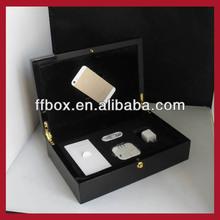 Top grade luxury black piano lacquer finish wooden Iphone 6 box with accessoris