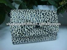 2012 trendy flocked ladies cosmetic bag high quality
