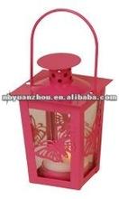 Mini Lantern Tea Light Holder Butterfly design rose color