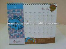 Planner die cut table calendar