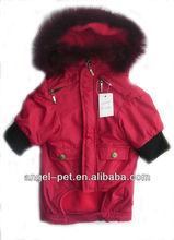 Stylish Cute Cotton Dog Winter Coat with Fur Hood