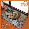 polyester fabric PVC backing bedroom mat animal print carpet tiles