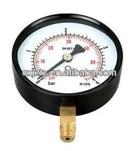 Y80R Standard Pressure Gauge With Black Steel Case ,Black Steel Bezel Bottom Connction