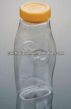 New 400ml transparent pet plastic container,plastic drinking juice bottle