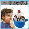 de plástico vermelho capacete de beisebol atacado recipientes de sorvete