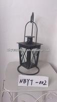 Black metal hanging candle lantern