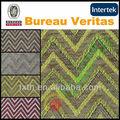 clásico diseño de rayas tejido de tela de chenilla