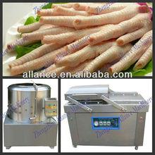 2015 compact design top quality chicken feet peeling machine