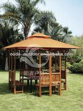 3 m * 3 m alta qualidade ao ar livre casa de madeira de madeira gazebo, De madeira tenda