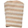 Barra horizontal de sacos de papel kraft tratar favor sacos de embrulhar presentes - 5 x 7.5 polegadas