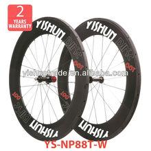2014 YISHUNBIKE nice design 88mm tubular pro 700c carbon fiber wheel straight pull road bicycle wheels
