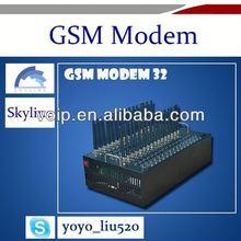 32 port low cost bulk SMS sending modem wavecom module gsm quad band 850/900/1800/1900mhz gprs edge