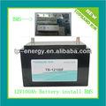 descuento 2 año de garantía lifepo4 baratos de litio de la batería pack para el coche de partida con bms protección