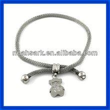 hot stainless steel bangle bracelets diamond