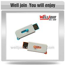 Promotional Mini USB Flash Drive, Plastic USB Drive, Keyring USB Flash Drive