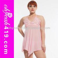 2014 Latex design wholesale hot sale babydoll women plus size nighty lingerie underwear clothes sexy big size dress