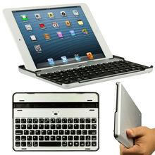 Aluminum bluetooth keyboard for iPad Mini,CE FCC RoHS aluminum alloy cover built in bluetooth 3.0 keyboard for iPad Mini BK-24-2