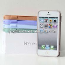 flip cover case ,folio tpu case for apple iphone5