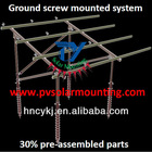 Ground Screw Pile Solar Mounting System, PV solar mounting rack table, Pile Ground Mounting Bracket
