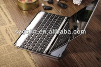 2013 Aluminum alloy red leather case bluetooth keyboard for ipad 2