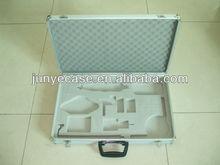 aluminium alloy box with white cut-out foam insert