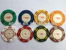 14g Two-Tone Sticker Monte Carlo Poker Chip/Casino Poker chips