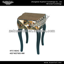 2013 Stylish coffee color mirrored nightstand