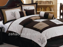 luxury microfiber embroidery bedding set/comforter set/7pcs comforter
