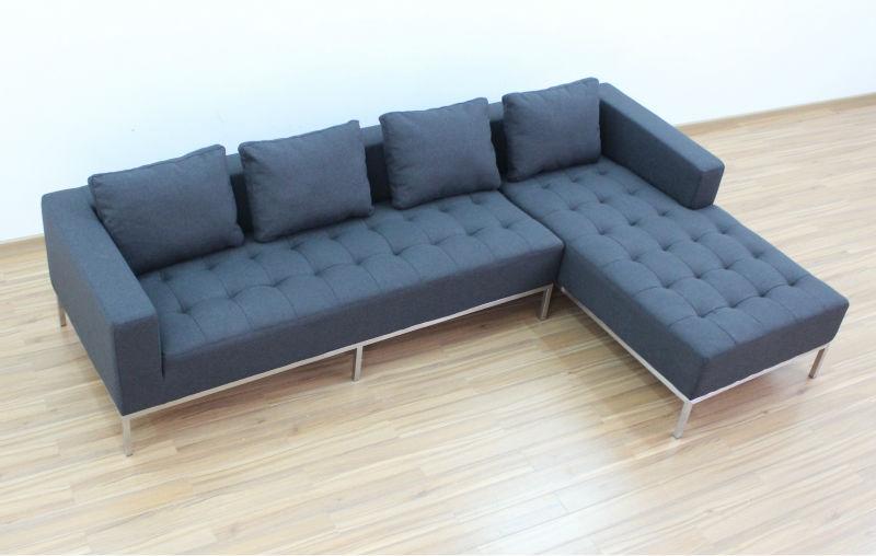 Modern Carter Sectional Sofa 5068 View Fabric L Shape