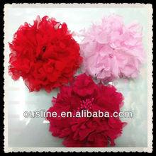 shabby flowers wholesale,wedding decorative flowers,bridal headpiece,chiffon frayed flowers