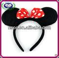 venta al por mayor de tres colores accesoriosparaelcabello mickey oreja de ratón minnie mouse diadema