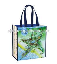 Folding Laminated Shopping Woven Tote Bag