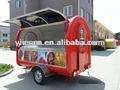 China hizo de alimentos camiones camiones para la venta de máquinas expendedoras de alimentos del remolque del camión carrito de comida ys-fv300-2/acoplado de alimentos en china