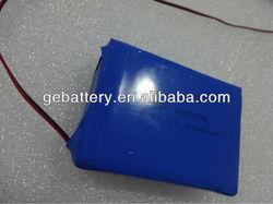 605776 2800mAH 3.7V Li ion battery pack with blue color pvc