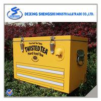 Retro fishing seat ice chest hard cooler box 25L