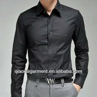 European&American style wedding wear 100%Cotton(Algodon) Slim fit official/dress long sleeve shirt for men